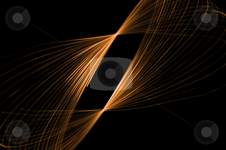 Glowing swirl stock photo, Abstract glowing shape on a black background by Iurii Osadchi