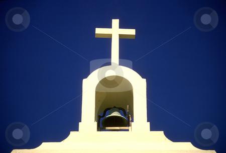 St. Vincent de Paul Church stock photo, USA, California, Santa Cruz County, Davenport, St. Vincent de Paul Church, bell tower by David Ryan