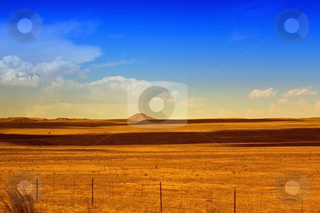 Rural Scene stock photo, Rural Scene with Blue Skies and Meadows by Mehmet Dilsiz