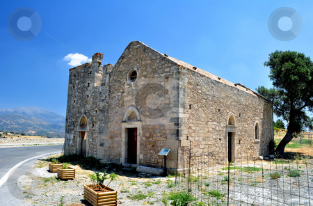 Church of Ayios Georgios stock photo, Travel photography: Historic Church of Ayios Georgios, Faistos, Crete. by Fernando Barozza