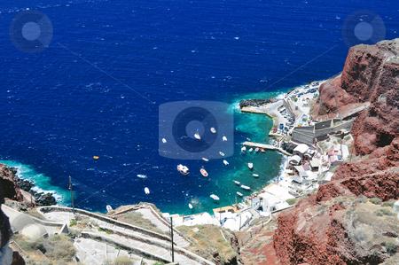 Santorini Island stock photo, Travel photography: Beautiful island of Santorini, Greece by Fernando Barozza