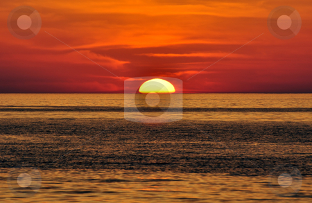 Sunset. Crete, Greece. stock photo, Sunset in the Mediterranean. Island of Crete, Greece. by Fernando Barozza