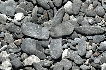 Tiling pebbles stock photo, Vertically and horizontally tiling image of pebbles.  Use for high-definition backgrounds by Darren Booth