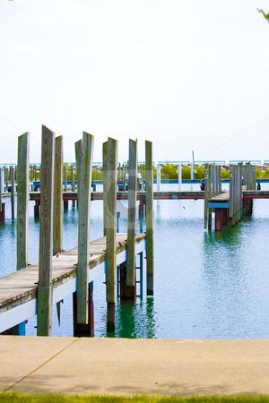 Dock stock photo, Empty boat slip in Lexington, Michigan by Meg Fuller