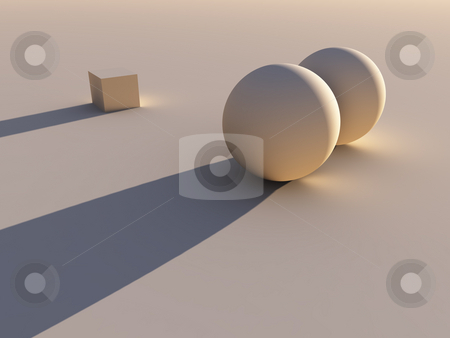 New one on the block stock photo, This CG Image can symbolize different things like: alone, difference,
