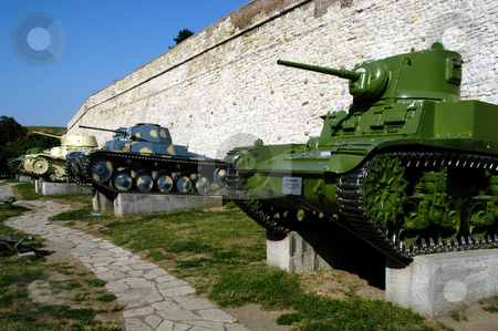 Tank Museum stock photo, Serbia, Belgrade, Kalemegdan Park, Belgrade Fortress, Tank Museum by David Ryan