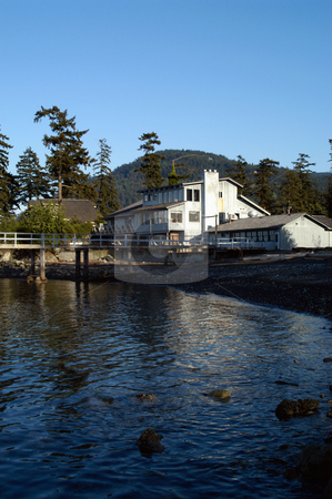 Bartwood Lodge stock photo, USA, Washington, Orcas Island, East Sound, Bartwood Lodge by David Ryan