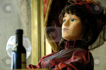 Mannequin stock photo, Serbia, Belgrade, A Mannequin in a restaurant window by David Ryan