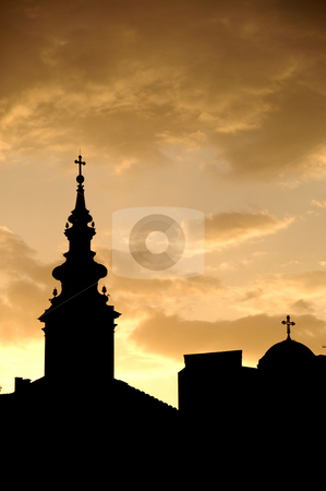 Belgrade Dawn stock photo, Serbia, Belgrade, Sunrise by David Ryan