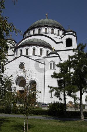 St. Sava Temple stock photo, Serbia, Belgrade, Temple of St. Sava (Serbian Orthodox), Largest Orthodox church in the world (under construction) by David Ryan