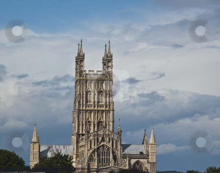 Cathedral on Skyline stock photo, A cathedral standing out on a lovely blue sky by Stephen Clarke