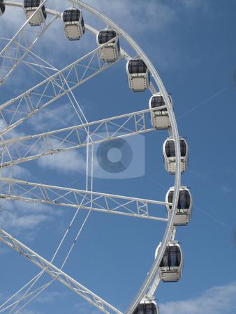 Weston super mare tourist wheel stock photo,  by Stephen Clarke