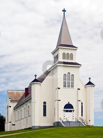Church in St. Peter's Bay, PEI, Canada stock photo, A beautiful, old church building in St. Peter's Bay, Prince Edward Island, Canada by Kenneth Keifer