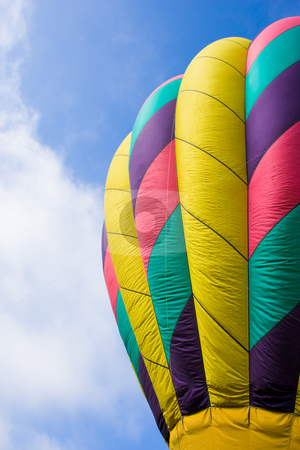 Hot Air Balloon stock photo, Low angle of a hot air balloon. by Nicole Reicher