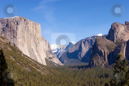 Yosemite National Park stock photo, Famous view at Yosemite National Park by Nicole Reicher