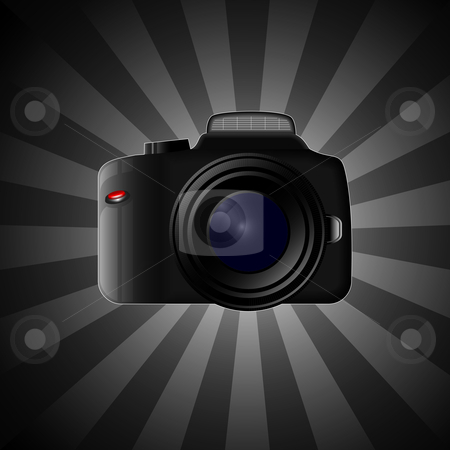Camera stock vector clipart,  by Jaka Verbic Miklic