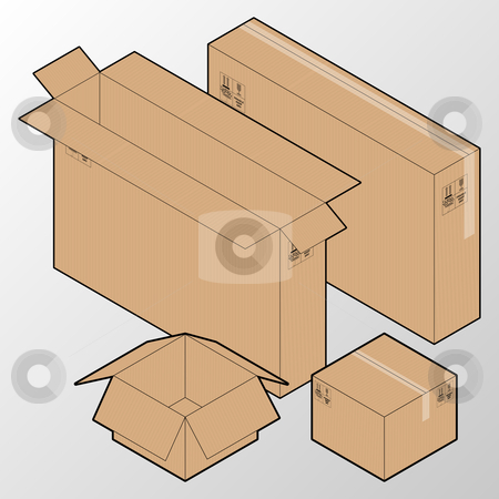 Boxes  stock vector clipart,  by Jaka Verbic Miklic