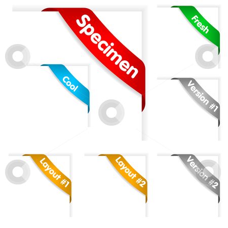 Banner - ribbon on top right corner  stock vector clipart, Great for presentatons and templates. by Jaka Verbic Miklic