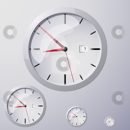Clock Icon  stock vector clipart,  by Jaka Verbic Miklic