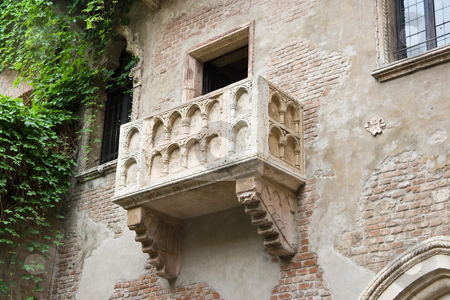 Juliet's balcony stock photo, The famous balcony of Juliet Capuleti's home in Verona by ANTONIO SCARPI