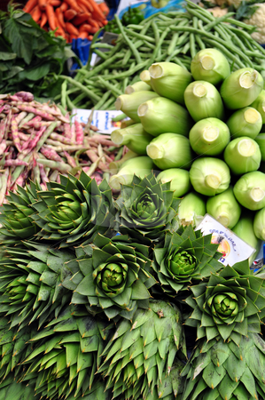 Mixed vegetables. stock photo, Mixed vegetables for sale at street market. by Fernando Barozza