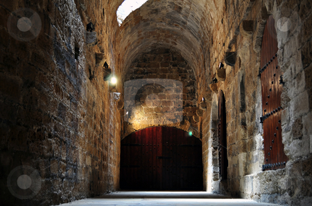 Venetian fortress (Koules) in the Island of Crete, Greece stock photo, Interior of the Venetian fortress in Heraklion, Crete, Greece by Fernando Barozza