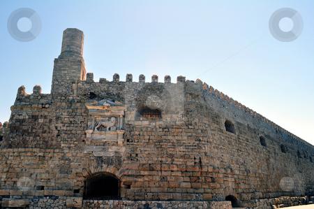 Fortification: Venetian castle (Koules), in Crete, Greece stock photo, Travel photography: Venetian fortress in the Island of Crete, Greece by Fernando Barozza