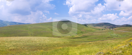 Zlatibor panorama stock photo, Panoramic image of mountain Zlatibor, famous tourist resort in Serbia. by Ivan Paunovic