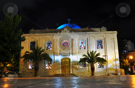 Church of Agios Titos, Crete stock photo, Travel photography: Historic church of Agios Titos, in Heraklion, Crete by Fernando Barozza