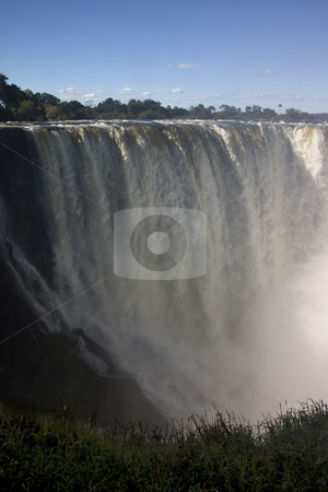The long drop stock photo, A photo of the falls with the longest drop at victoria falls, zambia, zimbabwe by Darren Pattterson