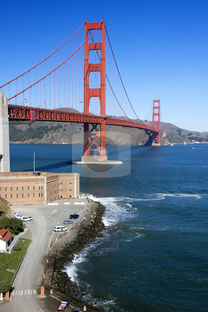 Golden Gate Bridge 2 stock photo, View of the golden gate bridge san francisco by Darren Pattterson