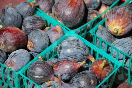 Black Figs stock photo, Black Figs in the Farmers Market on a Sunny Day by Denis Radovanovic