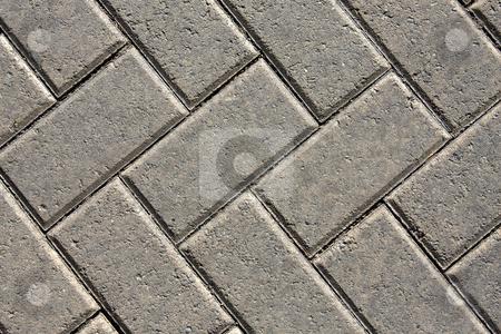 Pavement stock photo, Close up of a brick uniformed patterned pavement by Darren Pattterson