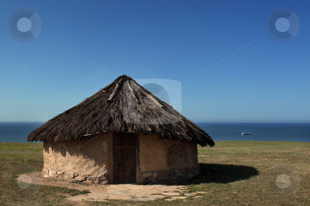 Cottage stock photo, Antique house in the coast in Asturias,Spain by Bernardo Varela