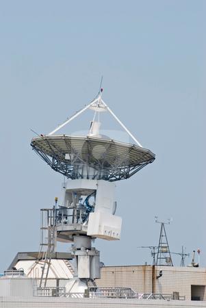 Antenna communicate with satellite stock photo, Huge Antenna communicate with satellite by Lawren