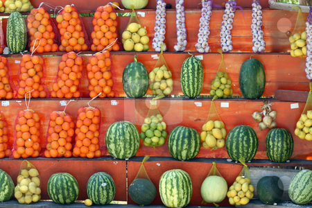 As fruits and vegetables stock photo, Street shop for fruits and vegetables by Bernardo Varela