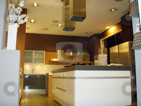 Kitchen stock photo, Indoor kitchen detail by Bernardo Varela
