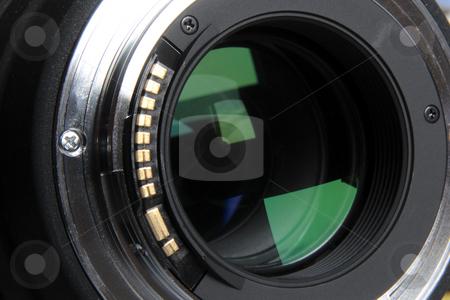 Objective lens stock photo, Objective lens rear detail by Bernardo Varela