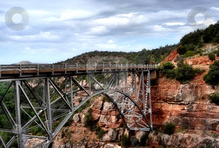 Bridge on the rocks stock photo, Bridge on the rocks in sedona arizona by Monica Boorboor