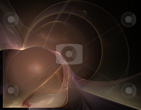 Abstract background stock photo, Abstract dark background illustration - wave lines and lights by J?