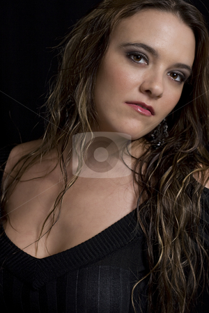 Women in her twenty stock photo, Portait of a women in her twenty by Yann Poirier