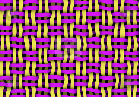Basket weave stock photo, Yellow and purple basket weave background and texture by Monica Boorboor