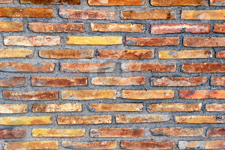 Wall stock photo, Highly textured multi-colored wall by Andreas Karelias
