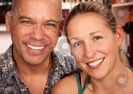 Couple Portrait stock photo, Portrait of smiling attractive young couple by Scott Griessel