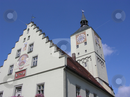 Ancient town hall in Deggendorf, Bavaria stock photo, Ancient town hall in Deggendorf, Bavaria by Robert Biedermann