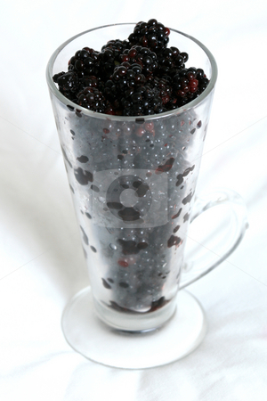 Glass of Blackberries - Healthy Concept stock photo, Glass of Blackberries - Healthy Concept by Sam D'Cruz