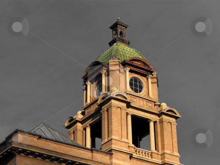 The Court House Tower stock photo, Picture Was Taken In Deadwood South Dakota On Top Of The Court House! by Brian Meyer