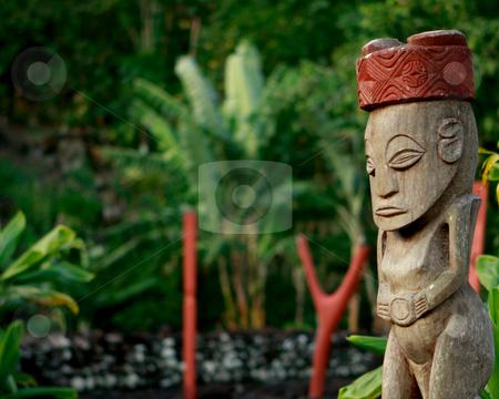 Marae in on Moorea stock photo, A French Polynesian temple, marae, on the island of Moorea by Sharon Arnoldi