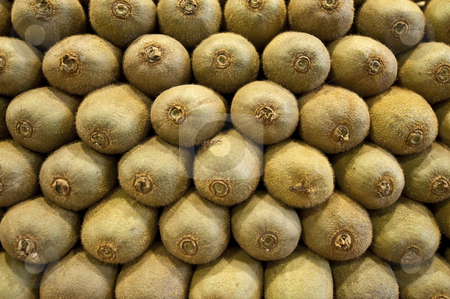 Kiwifruits. stock photo, Kiwifruits at a fruits stand in the Boqueria Market, in Barcelona, Spain. by Anibal Trejo