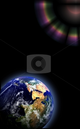 Earth Globe Space stock photo, Earth globe showing in space  Some components of this image are provided courtesy of NASA, and have been found at visibleearth.nasa.gov by Henrik Lehnerer